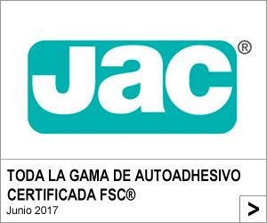 PAPEL AUTOADHESIVO JAC, AHORA CERTIFICADO FSC®
