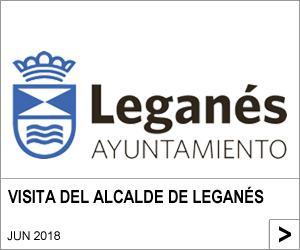 VISITA DEL ALCALDE DE LEGANÉS
