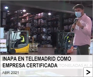 Inapa en Telemadrid como empresa certificada.