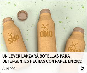 UNILEVER LANZARÁ BOTELLAS PARA DETERGENTES HECHAS CON PAPEL EN 2022